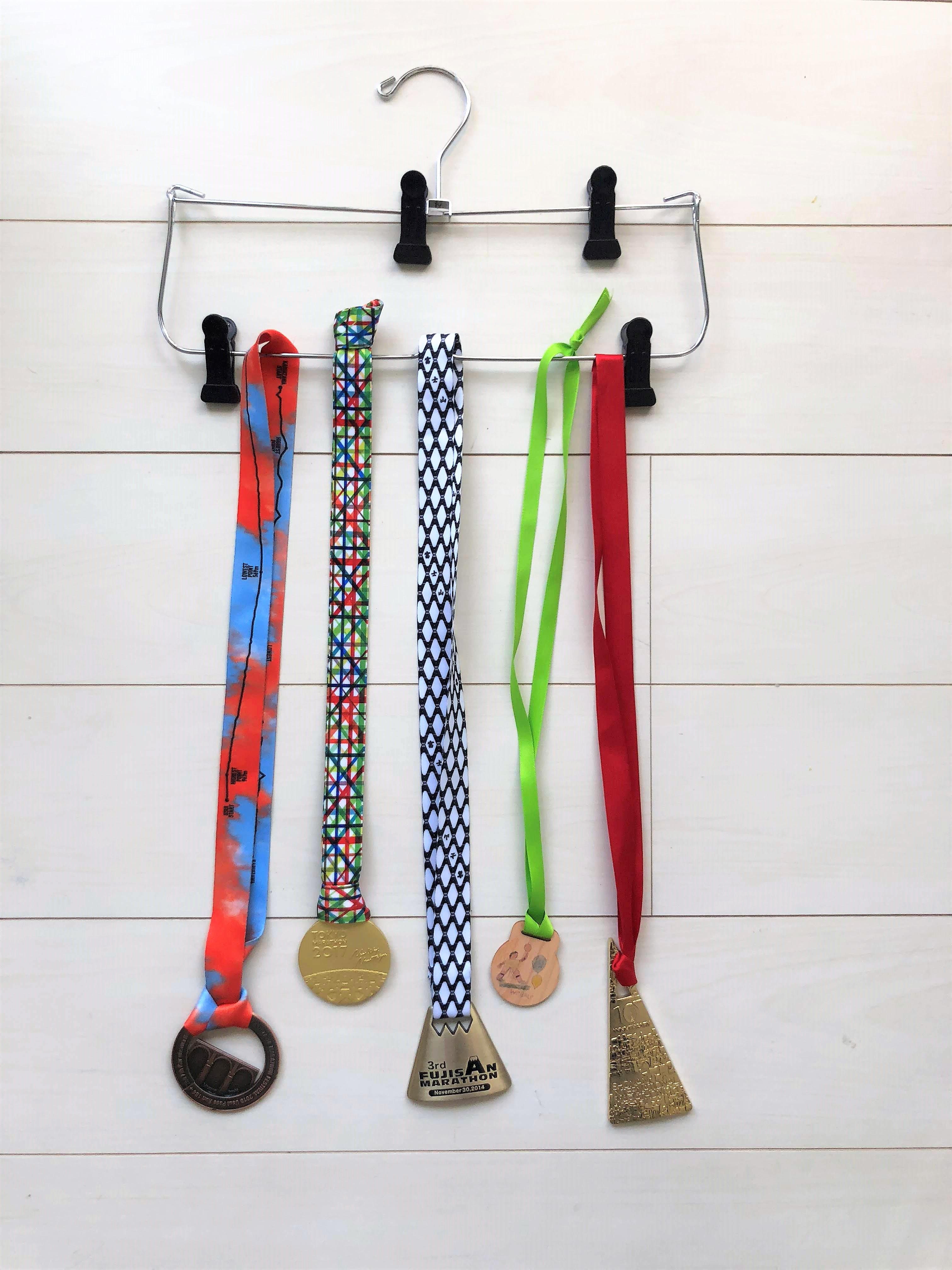 大会,メダル,参加賞,100均,収納,邪魔,置き場所