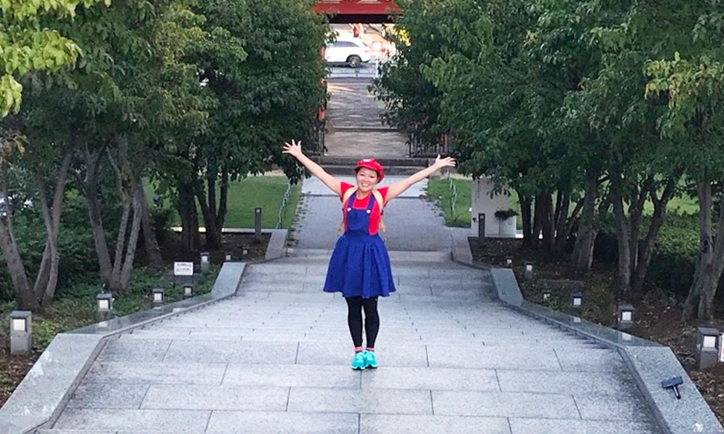ハロウィンラン コスプレ ランナー マリオ 走りやすい コスプレ コス コスチューム マラソン ランニング 女性 かわいい 目立つ 応援 わかりやすい