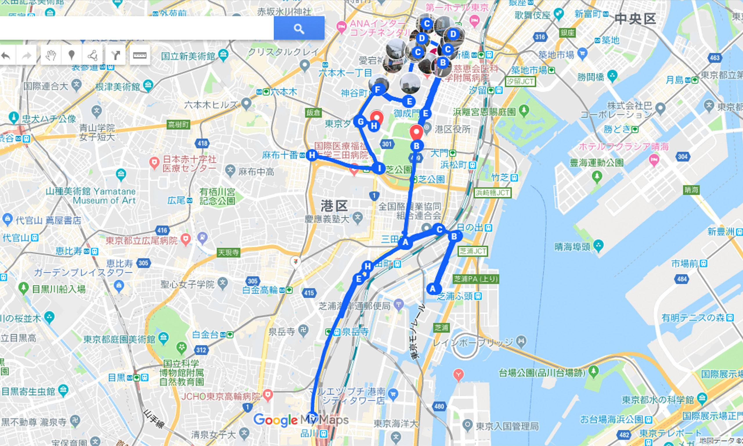MINATO シティー ハーフ マラソン 大会 試走 マップ Map 地図 港区 ミナト MINATOシティハーフマラソン2018