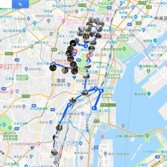 MINATO シティーハーフマラソン 試走 マップ 地図